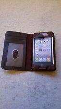 Case & portefeuille pour iPhone 4/4s en cuir véritable
