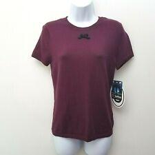 Behnaz Sarafpour Purple Knit Top Sz Large Short Sleeve Cotton Cashmere Target