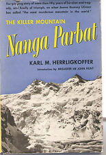 NANGA PARBAT THE KILLER MOUNTAIN- KARL M. HERRLIGKOFFER-1954-1ST AMERICAN EDITIO