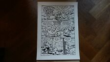 Robert Crumb - silk screen -  sunny side up with Mr. Natural -