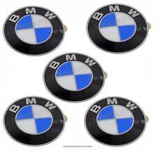 For BMW E46 E60 E92 Emblem For Wheel Center Cap 64.5mm Diameter Set Of 5 Genuine