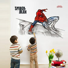 Spider Man Wall Stickers Kid Art Mural Removable Decal Boys Nursery Decor Gift