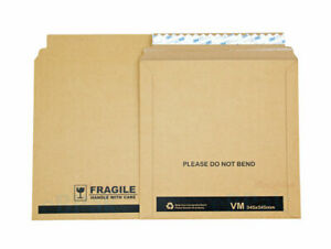 25x Vinyl Record Mailer BLACK Ultimate 345 x 345mm 12″ LP 33 rpm Rigid Envelope