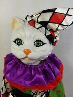 """RARE Vintage 1994 Heritage Mint Pet Personalities """"Jasmine Jester"""" Cat Doll, MIB"""