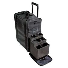 Makeup Artist Carry Case Cosmetic Nylon Professional Trolley Organiser Box