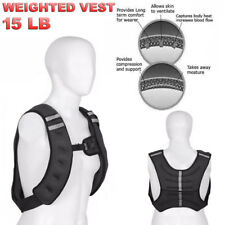 15LB Weighted Vest Jacket Adjustable Workout Weight Exercise Training Waist US