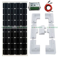 100W Mono Solar Panel Kit 12V RV Motorhomes Caravan Power 15A PWM Charge Bracket