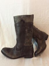 H By Hudson Brown Mid Calf Leather Boots Size 38