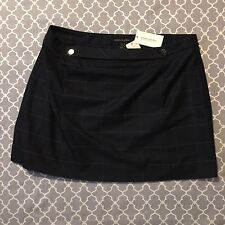 NWT Banana Republic Double Front Button Skirt Plaid Pattern Above Knee Length