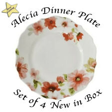 222 Fifth Set of 4 Alicia Dinner Plates - NIB - Box has minor scratch - see pics