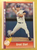 1991 Pacific Nolan Ryan Baseball Card #167 Great Start Texas Rangers
