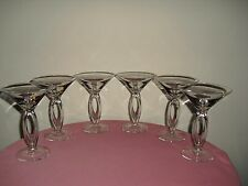 Open Stem / Pierced Stem Martini Goblets / Glasses - SET OF 6