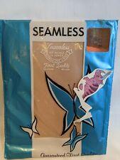 Vintage Seamless Taupe Nylon Stockings Size 9.5 Nos