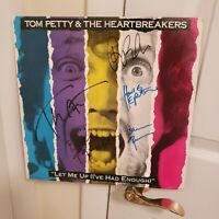 Tom Petty signed lp **Let Me Up**1987**5 members **Howie Epstein **