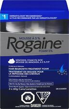Rogaine Men's Minoxidil 5% Foam 3 Month  FREE FAST 1-5 DAY DELIVERY FROM CANADA