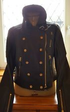Burberry Brit Black Leather Jacket Size 14