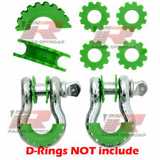 """Green Isolator Washers 1 Pair Kit Set Silencer Clevis for 3/4"""" D-ring Shackles"""