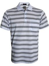 Men's Striped T-shirts Loose Fit Pique Polo Polycotton 1905 Tops Casual M to 5xl White 3xl
