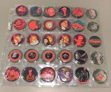 CASPER GLO CAPS RED GLOW ZONE SET OF 60 Rare 1995 Tazos