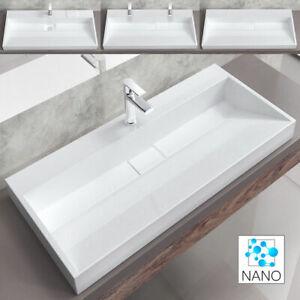 Gussmarmor Mineralguss Aufsatz Waschbecken Waschtisch Schale Keramik ab 600 mm