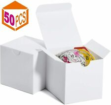 Gift Box 3x3x3 In Paper White Boxes w/ Lids for Gifts Crafting Cupcake Packaging