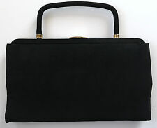 Vintage 30s 40s PARAY Black Pocketbook Clutch Handbag Purse
