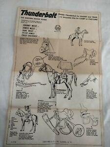 Vintage 1960s Marx Thunderbolt Manual Instructions - Johnny West Horse