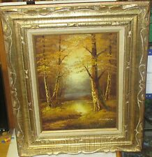 CANTRELL ORIGINAL OIL ON CANVAS RIVER CREEK LANDSCAPE PAINTING