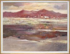 """R Bolton Smith """"Ranch Winter"""" signed original oil on canvas, Art, SUBMIT OFFER!"""