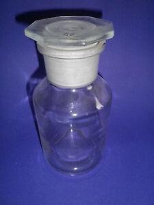 Weithalsflasche  500 ml Stopfen NS 45/40 klar Steilbrustflasche W 5873500