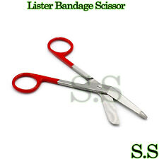 Color Bandage Scissor Paramedic Nurses Uniform Supply (Red Handle)