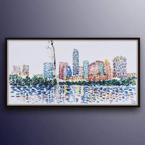 "Washington DC 67""- skyline, cityscape painting by Koby Feldmos"