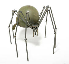 Sugarpost Gnome Be Gone Large Helmet Spider Welded Metal Art Made in Usa