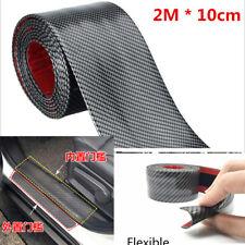 2 m Voiture Porte Sill éraflures Bienvenue Pédale protéger avant arrière en fibre de carbone stickers