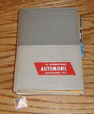 Original 1957 38. Internationale Automobil Ausstellung Book Manual Guide 57