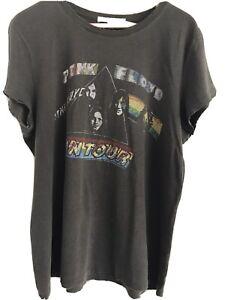 Anthropologie Junk food Pink Floyd Vintage  Graphic T shirt Top Size Large