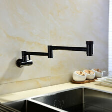 Brass ORB Wall Mounted  Folding Double Switch Cold  Tap  Kitchen Faucet