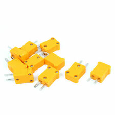 10pcs K Type Thermocouple Temperature Sensor Wire Cable Male Connector Yellow