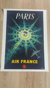 Affiche Air France - Paris Arc de Triomphe (réédition) dimensions 50 x 70 cm