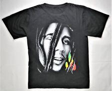 Bob Marley T-Shirt Black L Reggae Music 2-Sided Print Rasta Weed Jamaica Singer