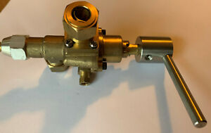 High Power Gas Valve 22S with Handle for Chinese Cookers. Vertical Gas Inlet.