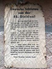 WW2 US LEAFLET 65 GERMAN DIVISION VOLANTINO AMERICANO 65 DIVISIONE TEDESCA SCAVO