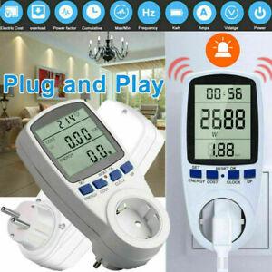 Leistungsmesser Wattmeter Stromzähler Steckdose Energiemonitor Stromverbrauch DE