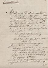 ANTIK Alte Handschrift Urkunde Cop. Gerichtsdokument 1830 Ranis