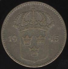 More details for 1915 sweden gustaf v silver 10 ore   european coins   pennies2pounds