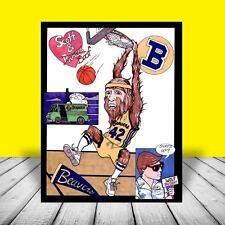 New Teen Wolf artist signed Poster Art, Michael J. Fox movie, 1985, basketball