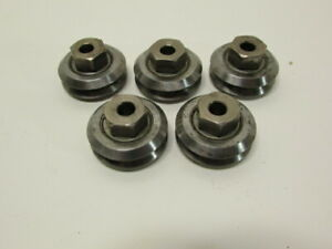 "TRACK ROLLERS 1-1/4""H V-GROOVE ADJUSTABLE-HEIGHT 1/4"" SHAFT MOUNT SET OF 5"