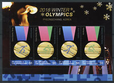 St Vincent & Grenadines 2018 MNH Winter Olympics PyeongChang 4v M/S III Stamps