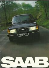 SAAB 900 FULL RANGE, completa di vendita opuscolo 1981
