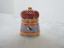 House of Faberge Russian Themed Jewel Box The Nightingale by Franklin Mint